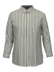 Krémovo-modrá pruhovaná košile Ulla Popken