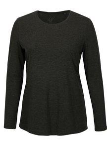 Tmavosivé melírované tričko s dlhým rukávom Ulla Popken