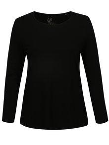 Čierne tričko s dlhým rukávom Ulla Popken