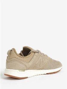 Pantofi sport bej cu perforatii pentru femei New Balance WRL247