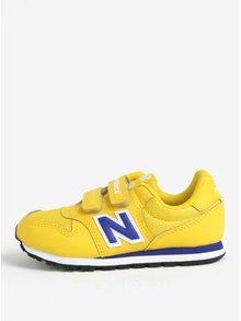 Žlté detské tenisky na suchý zips New Balance