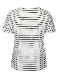Modro-biele pruhované tričko Ulla Popken