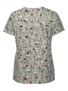 Tricou alb cu print stele Ulla Popken