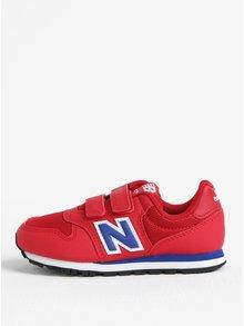 Červené dětské tenisky na suchý zip New Balance