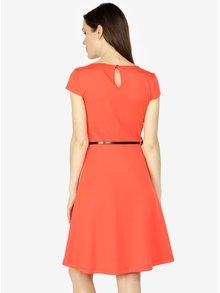 Červené šaty s opaskom VERO MODA Vigga