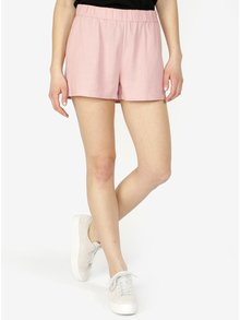 Pantaloni roz deschis cu adaos de in - VERO MODA Asta