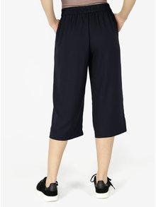 Pantaloni culottes bleumarin cu talie inalta - VERO MODA Isabel