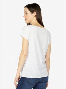 Biele tričko s potlačou a flitrami VERO MODA Bling