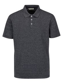 Tricou polo bleumarin melanj - Casual Friday by Blend