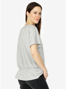 Tricou gri deschis melanj - VERO MODA AWARE Costa