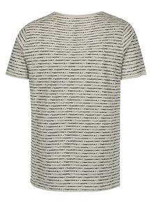 Černo-béžové pruhované tričko Casual Friday by Blend