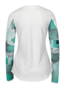 Bluza alba cu print pe maneci pentru femei Under Armour ColdGear