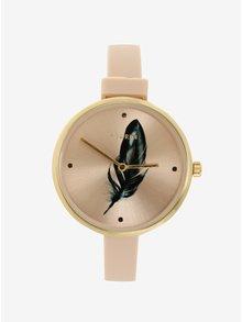 Pozlátené hodinky so silikónovým remienkom Pilgrim