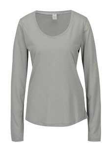 Sivé dámske pruhované funkčné tričko Under Armour Streaker