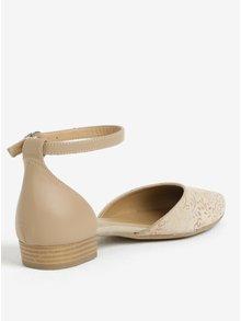 Béžové semišové sandále Tamaris