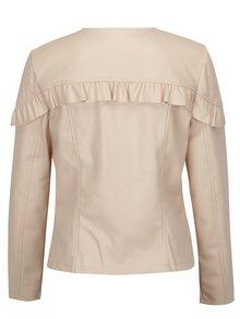 Jacheta roz cu volan decorativ si aspect de piele - Dorothy Perkins