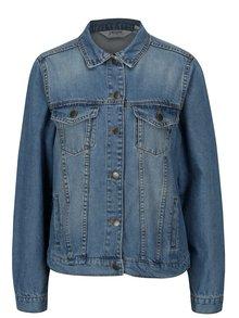 Jacheta albastra din denim cu buzunare la piept -  Dorothy Perkins