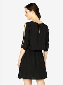 Čierne šaty s 3/4 rukávom VERO MODA Boca