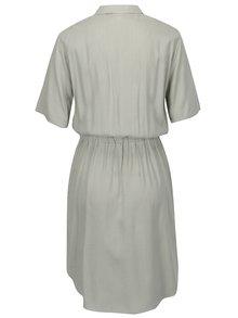 Krémovo-zelené pruhované košilové šaty Jacqueline de Yong Beach