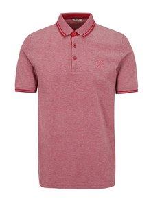 Červené žíhané polo tričko ONLY & SONS Stan