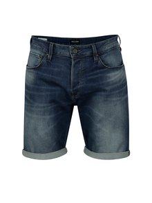 Pantaloni scurti albastri  din denim cu terminatie rasucita -  Jack & Jones Premium Jirick Jison