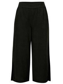 Pantaloni culottes negri cu slituri laterale - VILA Joannes