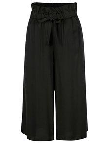 Čierne culottes s opaskom VILA Amaly