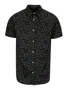 Camasa gri inchis din bumbac cu print floral discret - Jack & Jones Premium Jamie
