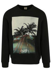 Bluza neagra cu print - Jack & Jones Premium Jorword Sweat