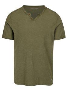 Zelené žíhané tričko Jack & Jones Premium Benjamin