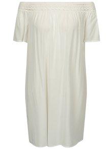 Krémové šaty se spadlými rameny Jacqueline de Yong Fame