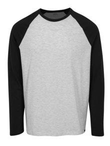 Bluza regular fit cu maneci raglan gri & negru - Burton Menswear London
