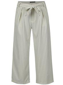 Krémové pruhované culottes s vysokým pásom ONLY Lou