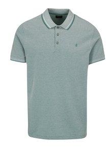 Tricou polo bleu cu logo brodat discret - Burton Menswear London