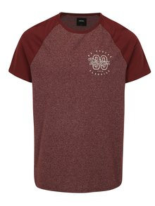 Tricou bordo cu maneci raglan si print - Burton Menswear London