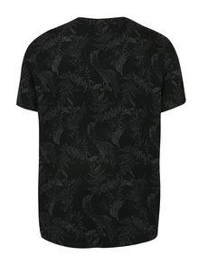 Čierne vzorované tričko Burton Menswear London