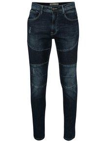 Blugi skinny bleumarin cu detalii decorative - Burton Menswear London