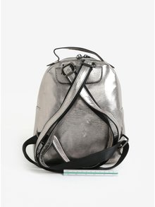 Metalický batoh v striebornej farbe Claudia Canova Damsel