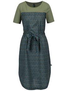 Tmavosivé vzorované šaty s krátkym rukávom Tranquillo Usnea