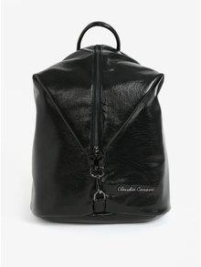 Rucsac negru elegant cu fermoar  Claudia Canova Lagoon