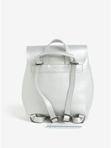 Malý batoh/crossbody kabelka v striebornej farbe Claudia Canova Kiona