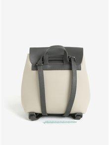 Šedo-béžový malý batoh/crossbody kabelka Claudia Canova Kiona