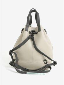Rucsac/geanta bucket gri cu bej Claudia Canova Gaya