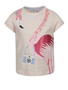Ružové dievčenské tričko s potlačou Tom Joule Astra