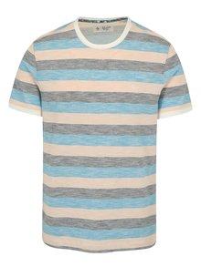 Růžovo-modré pruhované tričko Original Penguin