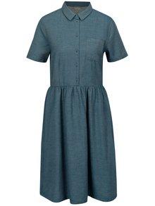 Modré melírované šaty Selected Femme Taylor