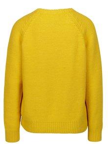 Pulover tricotat galben cu maneci raglan - Selected Femme Kasia