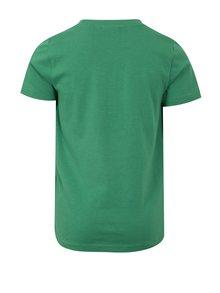 Tmavozelené chlapčenské tričko s potlačou Blue Seven