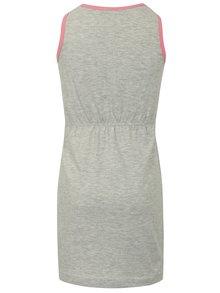 Svetlosivé šaty s potlačou dúhy Blue Seven