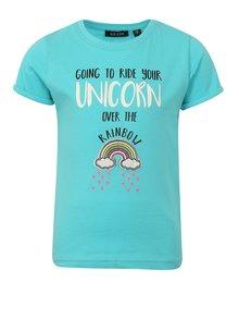 Svetlomodré dievčenské tričko s nášivkou Blue Seven